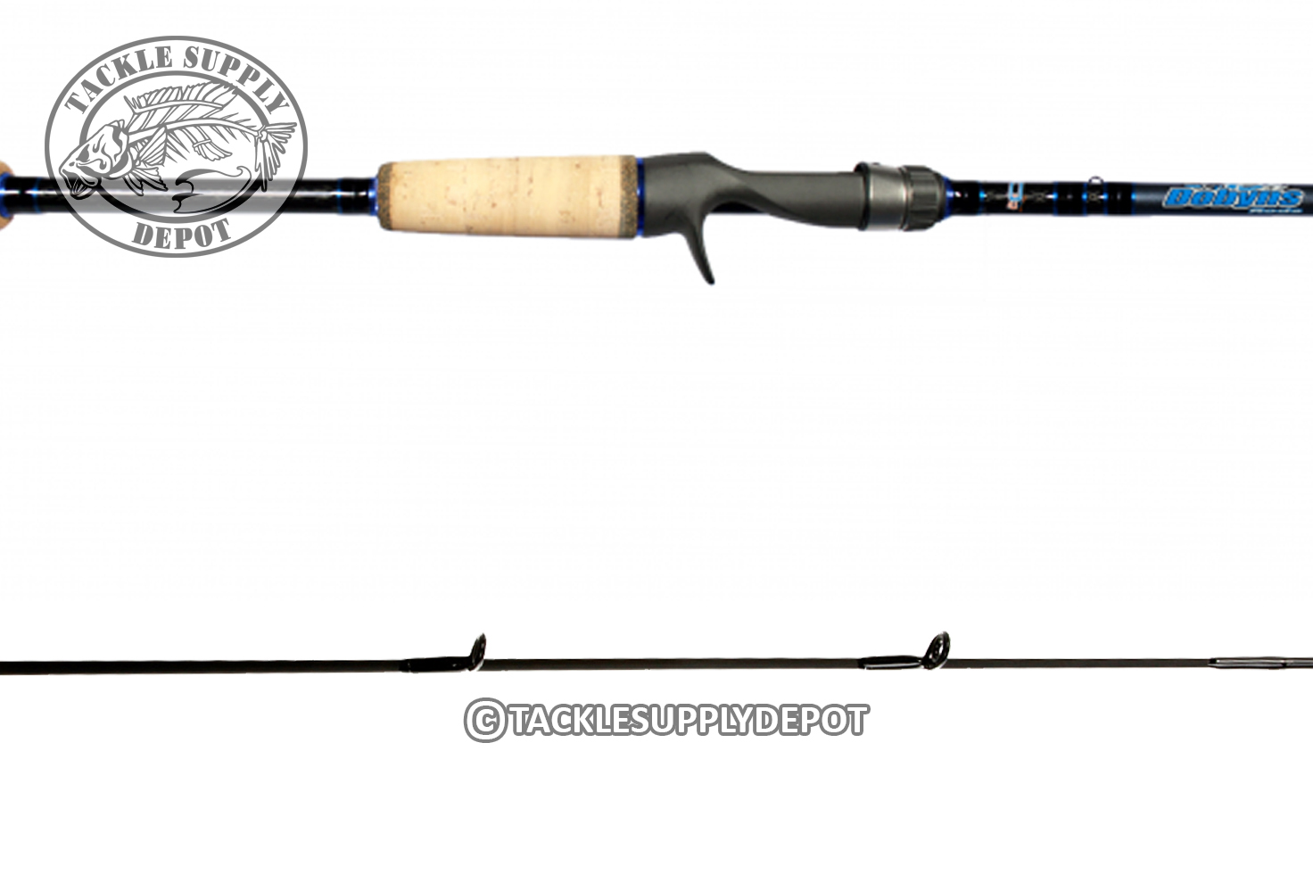 Dobyns champion xp 7ft 6in medium heavy casting rod full for Heavy fishing rod