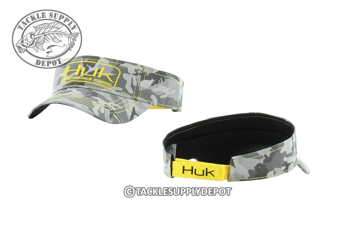 Huk fishing logo camo visor hat see selection ebay for Huk fishing hats