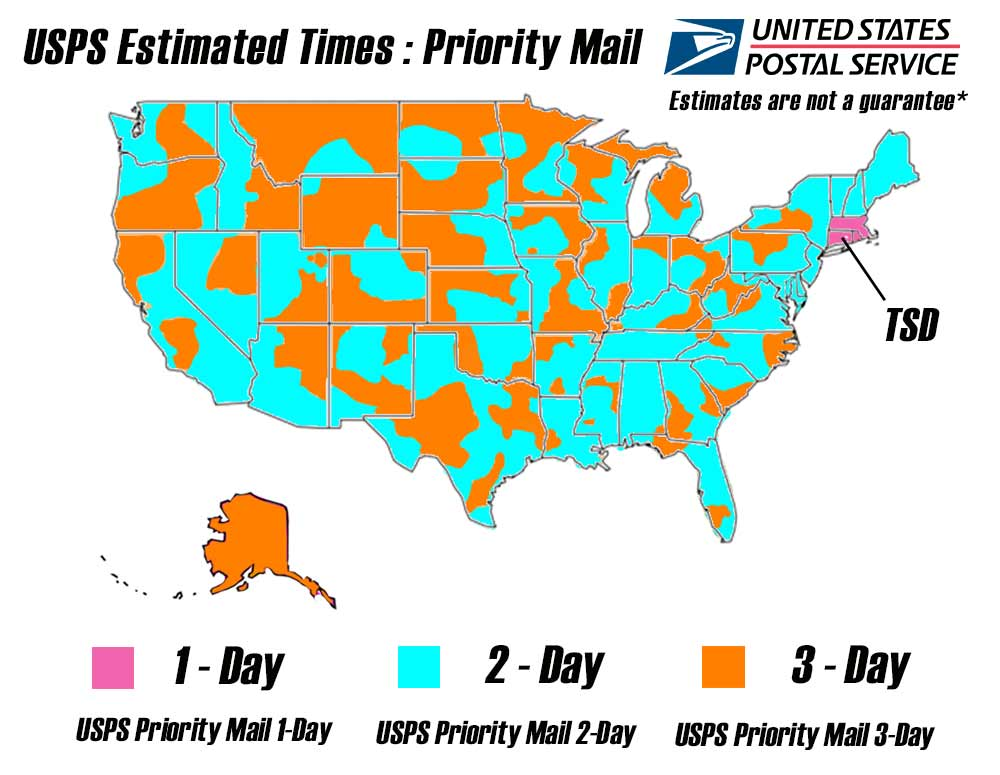 Us Mail Time Map Globalinterco - Us priority map