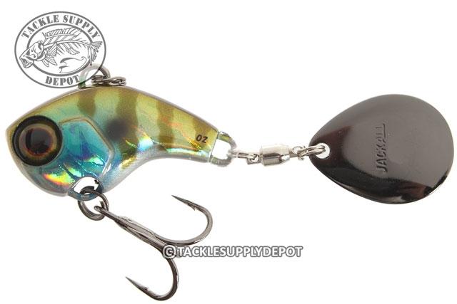 8407 Jackall Deracoup 1//4 oz Spin Tail Versenkung Köder HL Lime Gold